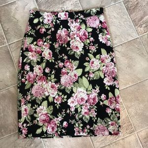 Maeve Anthropologie floral pencil skirt